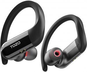 Auriculares inalámbricos Bluetooth TOZO T5 - Los mejores auriculares inalámbricos bluetooth para hacer deporte que comprar por internet - Mejores cascos inalámbricos para hacer deporte