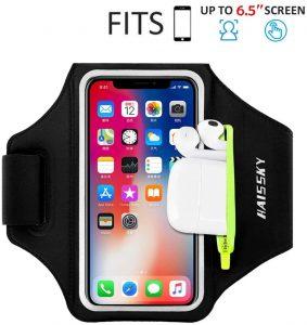 Brazalete deportivo completo para correr HAISSKY - Las mejores fundas de móvil para correr que comprar por internet - Mejores fundas para el móvil para hacer deporte