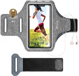Brazalete deportivo completo para correr JETech - Las mejores fundas de móvil para correr que comprar por internet - Mejores fundas para el móvil para hacer deporte