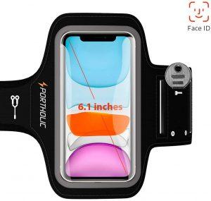 Brazalete deportivo completo para correr PORTHOLIC - Las mejores fundas de móvil para correr que comprar por internet - Mejores fundas para el móvil para hacer deporte