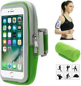 Brazalete deportivo con cremallera de Moliwen - Las mejores fundas de móvil para correr que comprar por internet - Mejores fundas para el móvil para hacer deporte