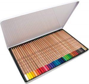 Caja metálica de lápices de colores de Milán de 36 - Los mejores estuches de lápices de colores que comprar por internet - Mejores lápices de colores online
