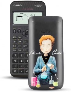 Calculadora científica Casio FX-82SPXII Iberia con ilustración de Marie Curie - Las mejores calculadoras científicas que comprar por internet - Mejor calculadora científica del mercado
