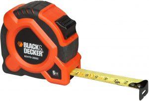 Cinta métrica de Black and Decker de 5 metros - Las mejores cintas métricas que comprar por internet - Mejor cinta métrica del mercado