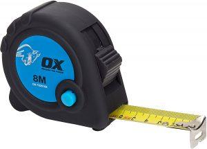 Cinta métrica de OX Tools de 8 metros - Las mejores cintas métricas que comprar por internet - Mejor cinta métrica del mercado