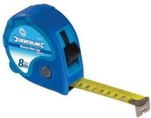 Cinta métrica de Silverline de 8 metros - Las mejores cintas métricas que comprar por internet - Mejor cinta métrica del mercado