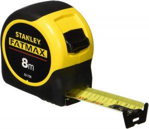 Cinta métrica de Stanley Fatmax de 8 metros - Las mejores cintas métricas que comprar por internet - Mejor cinta métrica del mercado