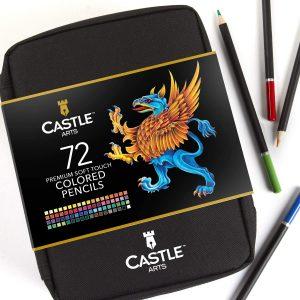 Estuche con cremallera de lápices de colores de Castle Art Supplies de 72 - Los mejores estuches de lápices de colores que comprar por internet - Mejores lápices de colores online