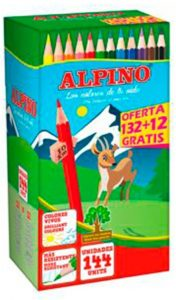 Estuche de lápices de colores de Alpino de 144 unidades - Los mejores estuches de lápices de colores que comprar por internet - Mejores lápices de colores online