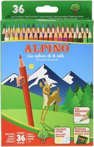 Estuche de lápices de colores de Alpino de 36 unidades - Los mejores estuches de lápices de colores que comprar por internet - Mejores lápices de colores online