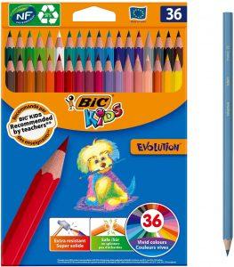 Estuche de lápices de colores de Bic Kids de 36 unidades - Los mejores estuches de lápices de colores que comprar por internet - Mejores lápices de colores online