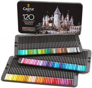 Estuche de lápices de colores de Castle Art Supplies de 120 - Los mejores estuches de lápices de colores que comprar por internet - Mejores lápices de colores online