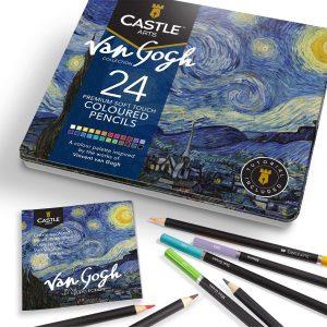 Estuche de lápices de colores de Castle Art Supplies de 24 temático 2 - Los mejores estuches de lápices de colores que comprar por internet - Mejores lápices de colores online