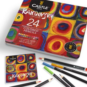 Estuche de lápices de colores de Castle Art Supplies de 24 temático - Los mejores estuches de lápices de colores que comprar por internet - Mejores lápices de colores online