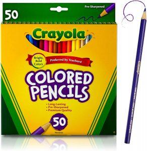Estuche de lápices de colores de Crayola de 50 - Los mejores estuches de lápices de colores que comprar por internet - Mejores lápices de colores online