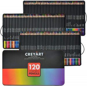 Estuche de lápices de colores de Creyart de 120 unidades - Los mejores estuches de lápices de colores que comprar por internet - Mejores lápices de colores online