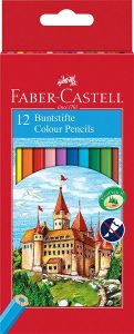 Estuche de lápices de colores de Faber-Castell de 12 unidades - Los mejores estuches de lápices de colores que comprar por internet - Mejores lápices de colores online