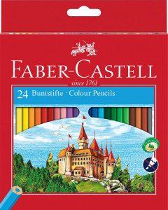 Estuche de lápices de colores de Faber-Castell de 24 unidades - Los mejores estuches de lápices de colores que comprar por internet - Mejores lápices de colores online
