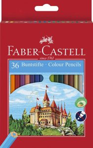 Estuche de lápices de colores de Faber-Castell de 36 unidades - Los mejores estuches de lápices de colores que comprar por internet - Mejores lápices de colores online