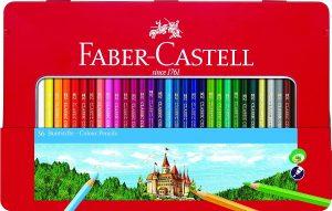 Estuche de lápices de colores de Faber-Castell de 48 unidades - Los mejores estuches de lápices de colores que comprar por internet - Mejores lápices de colores online