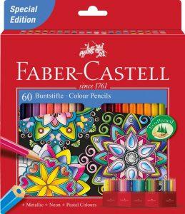 Estuche de lápices de colores de Faber-Castell de 60 - Los mejores estuches de lápices de colores que comprar por internet - Mejores lápices de colores online