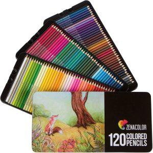 Estuche de lápices de colores de Zenacolor de 120 unidades - Los mejores estuches de lápices de colores que comprar por internet - Mejores lápices de colores online