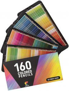 Estuche de lápices de colores de Zenacolor de 160 - Los mejores estuches de lápices de colores que comprar por internet - Mejores lápices de colores online