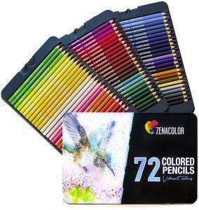 Estuche de lápices de colores de Zenacolor de 72 - Los mejores estuches de lápices de colores que comprar por internet - Mejores lápices de colores online