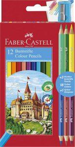 Estuche de lápices de colores hexagonales de Faber-Castell de 18 unidades - Los mejores estuches de lápices de colores que comprar por internet - Mejores lápices de colores online