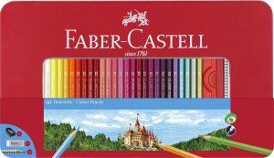 Estuche de lápices de colores hexagonales de Faber-Castell de 60 unidades - Los mejores estuches de lápices de colores que comprar por internet - Mejores lápices de colores online