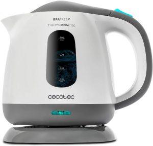Hervidor de Agua Eléctrico de Cecotec ThermoSense 120 de 1 litro - Los mejores Hervidores de Agua Eléctricos que comprar en internet - Hervidor de Agua Eléctrico para calentar agua para té online