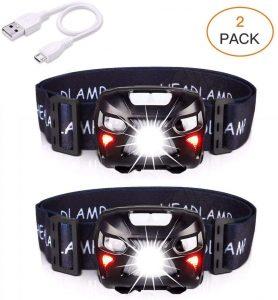 Linterna Frontal LED Pack 2 APUNOL - Los mejores frontales LED que comprar en internet - Linterna Frontal LED online