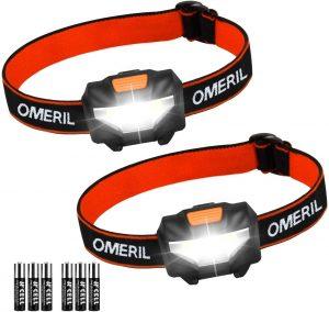 Linterna Frontal LED Pack 2 OMERIL- Los mejores frontales LED que comprar en internet - Linterna Frontal LED online