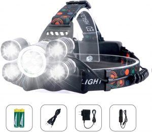 Linterna Frontal LED USB Recargable Arzopa - Los mejores frontales LED que comprar en internet - Linterna Frontal LED online