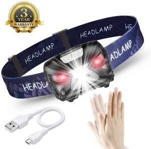 Linterna Frontal LED USB Recargable Doqo - Los mejores frontales LED que comprar en internet - Linterna Frontal LED online
