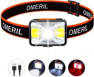 Linterna Frontal LED básico OMERIL- Los mejores frontales LED que comprar en internet - Linterna Frontal LED online