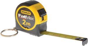 Llavero de cinta métrica de Stanley FatMax de 2 metros de llavero - Las mejores cintas métricas que comprar por internet - Mejor cinta métrica del mercado