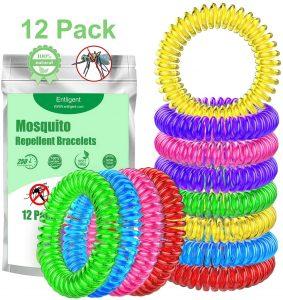 Pulsera repelente antimosquitos básicas de Entligent 12 unidades - Las mejores pulseras antimosquitos para niños que comprar en internet - Pulsera Banda repelente de mosquitos online