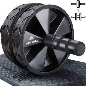 Rodillo de rueda para abdominales AMONAX - Las mejores ruedas de abdominales para entrenamiento en casa que comprar por internet - Mejores ruedas para hacer abdominales online