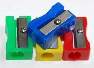 Sacapuntas de lápiz de Hainenko de plástico de 100 unidades - Los mejores sacapuntas para lápices de colores que comprar por internet - Mejores sacapuntas online