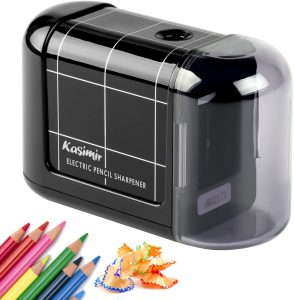 Sacapuntas de lápiz eléctrico de Kasimir - Los mejores sacapuntas para lápices de colores que comprar por internet - Mejores sacapuntas online