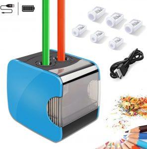 Sacapuntas de lápiz eléctrico de Oladwolf USB - Los mejores sacapuntas para lápices de colores que comprar por internet - Mejores sacapuntas online