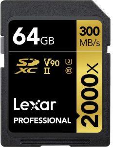 Tarjeta de memoria SDXC Lexar Profesional - Las mejores tarjetas de memoria para cámaras fotográficas que comprar en internet - Tarjeta de memoria para cámaras online