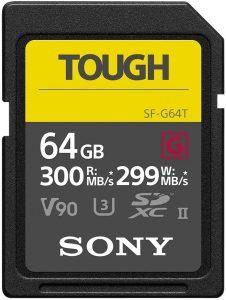 Tarjeta de memoria SDXC Sony - Las mejores tarjetas de memoria para cámaras fotográficas que comprar en internet - Tarjeta de memoria para cámaras online