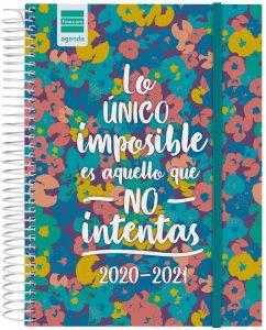 Agenda curso 2020-2021 de Finocam diaria - Lo único imposible es aquello que no intentas - Las mejores agendas escolares 2020 2021 que comprar por internet