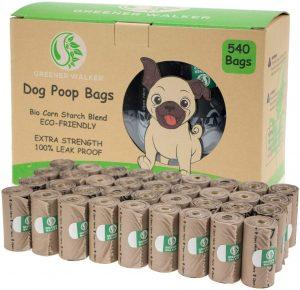 Bolsas para excrementos de perro de 540 unidades de Greener Walker - Las mejores bolsas para recoger la caca del perro que comprar por internet