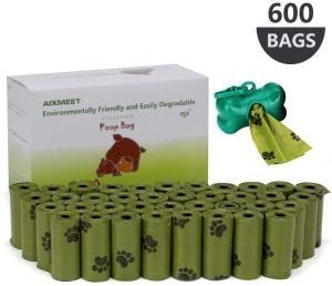 Bolsas para excrementos de perro de 600 unidades de Aixmeet - Las mejores bolsas para recoger la caca del perro que comprar por internet - Mejores bolsas de excrementos para mascotas del mercado