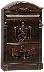 Buzón de correos de exterior Domus 2151 B con revestimiento de bronce - Los mejores buzones de correos que comprar por internet - Mejores buzones de exterior del mercado