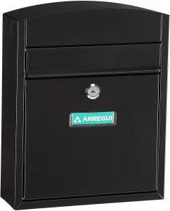 Buzón de correos de exterior de acero de Arregui negro - Los mejores buzones de correos que comprar por internet - Mejores buzones de exterior del mercado