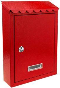 Buzón de correos de exterior rojo PrimeMatik - Los mejores buzones de correos que comprar por internet - Mejores buzones de exterior del mercado